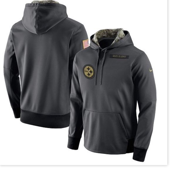 new concept 68d03 ab5b1 Pittsburgh Steelers Salute to Service Hoodie